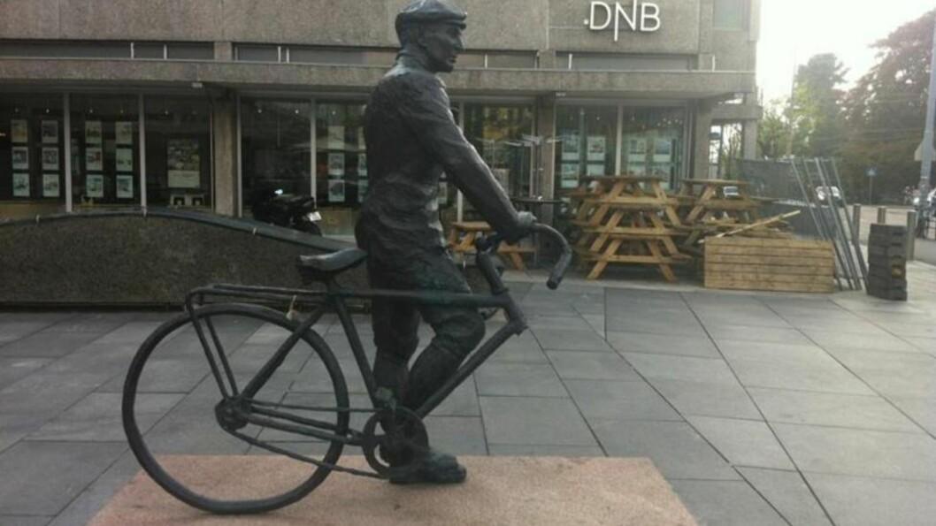 <strong>I SIKKERHET:</strong> Fronthjulet som mangler på dette bildet er nå tilbake i trygge hender etter at det ble meldt stjålet tidligere i dag. Foto: Agnete Brun / Dagbladet