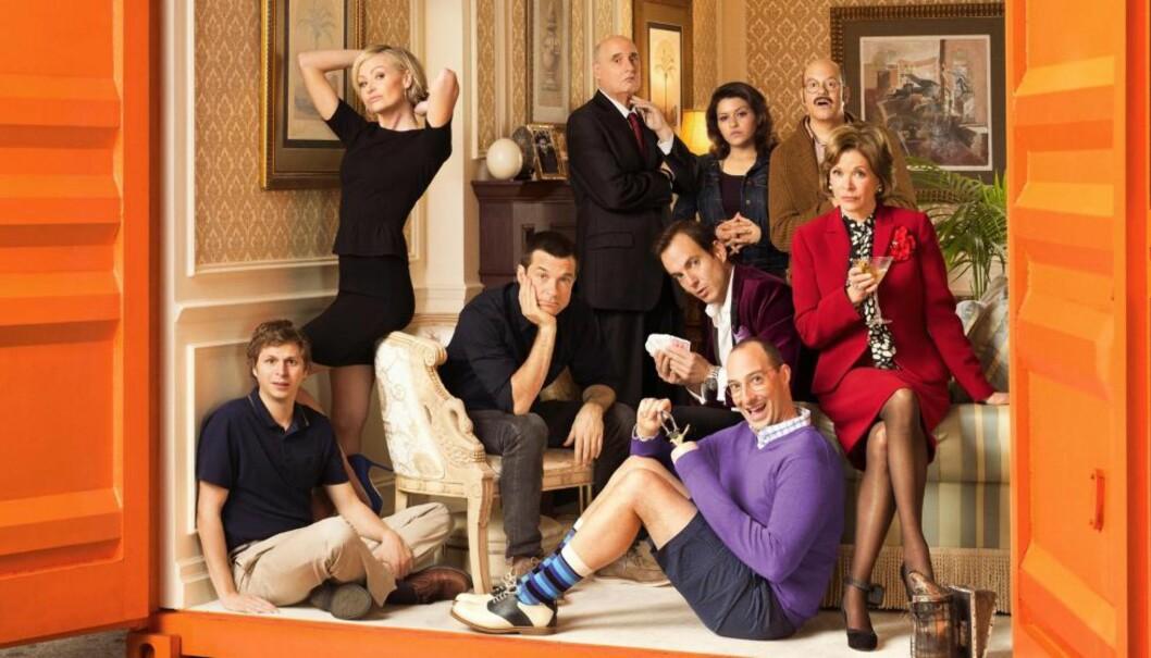 <strong>FAMILIEGJENFORENING:</strong> Fansen har ventet sju år på å treffe igjen familien Bluth fra kultkomedien «Arrested Development». Den nye sesongen er skreddersydd for dem. Foto: Netflix.
