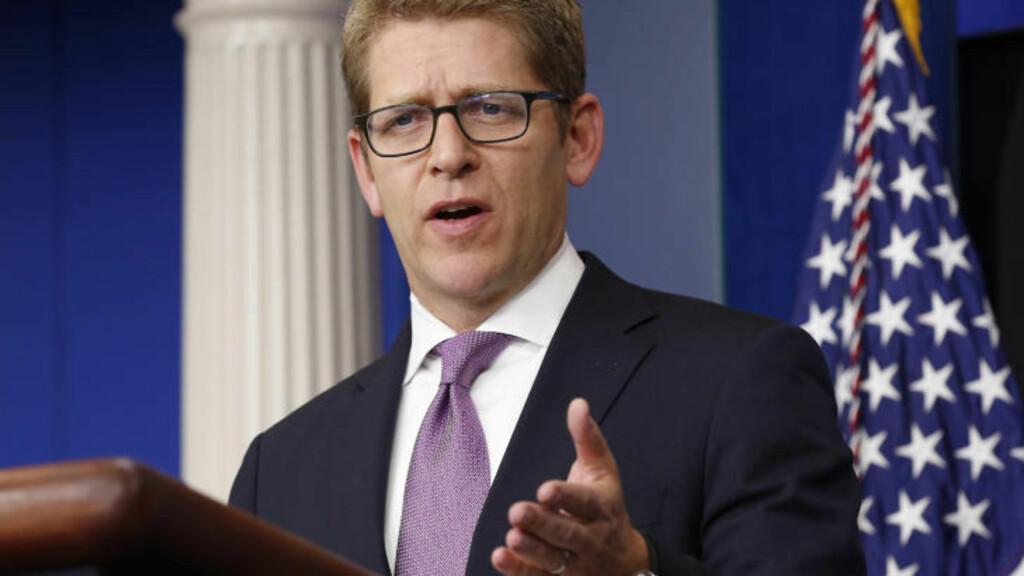 FLYFORBUD: En flyforbudssone er fortsatt en mulighet, sier presidentens talsmann Jay Carney. Foot: REUTERS/Kevin Lamarque/NTBScanpix
