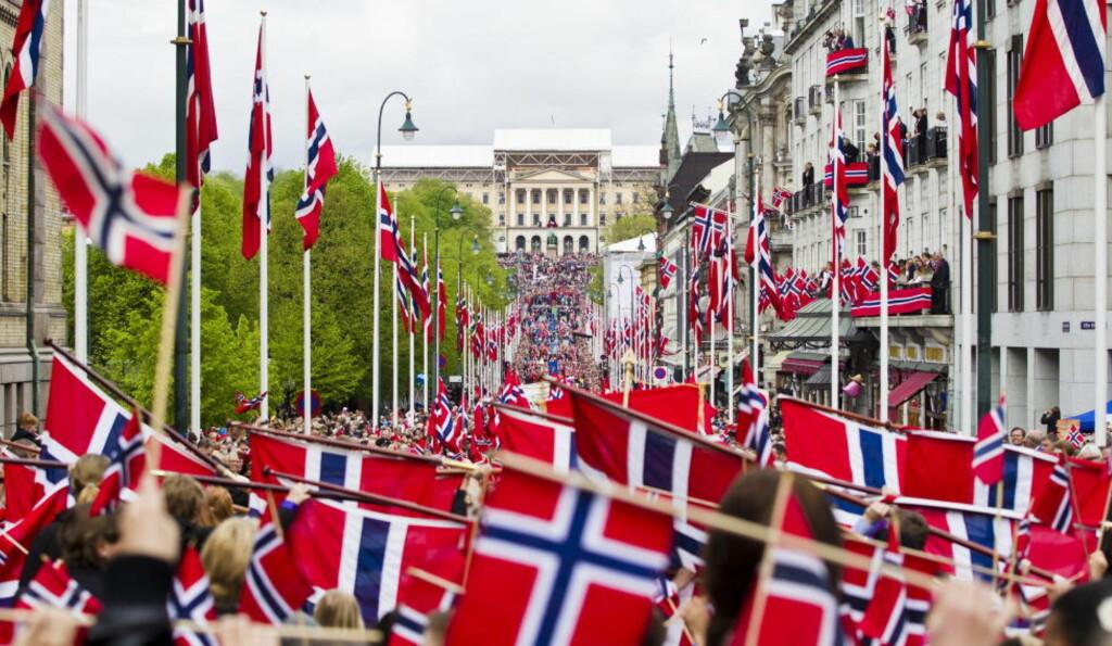 NASJONALDAG: Fra 17. mai-toget i Oslo i år. Foto: VEGARD GRØTT / NTB SCANPIX