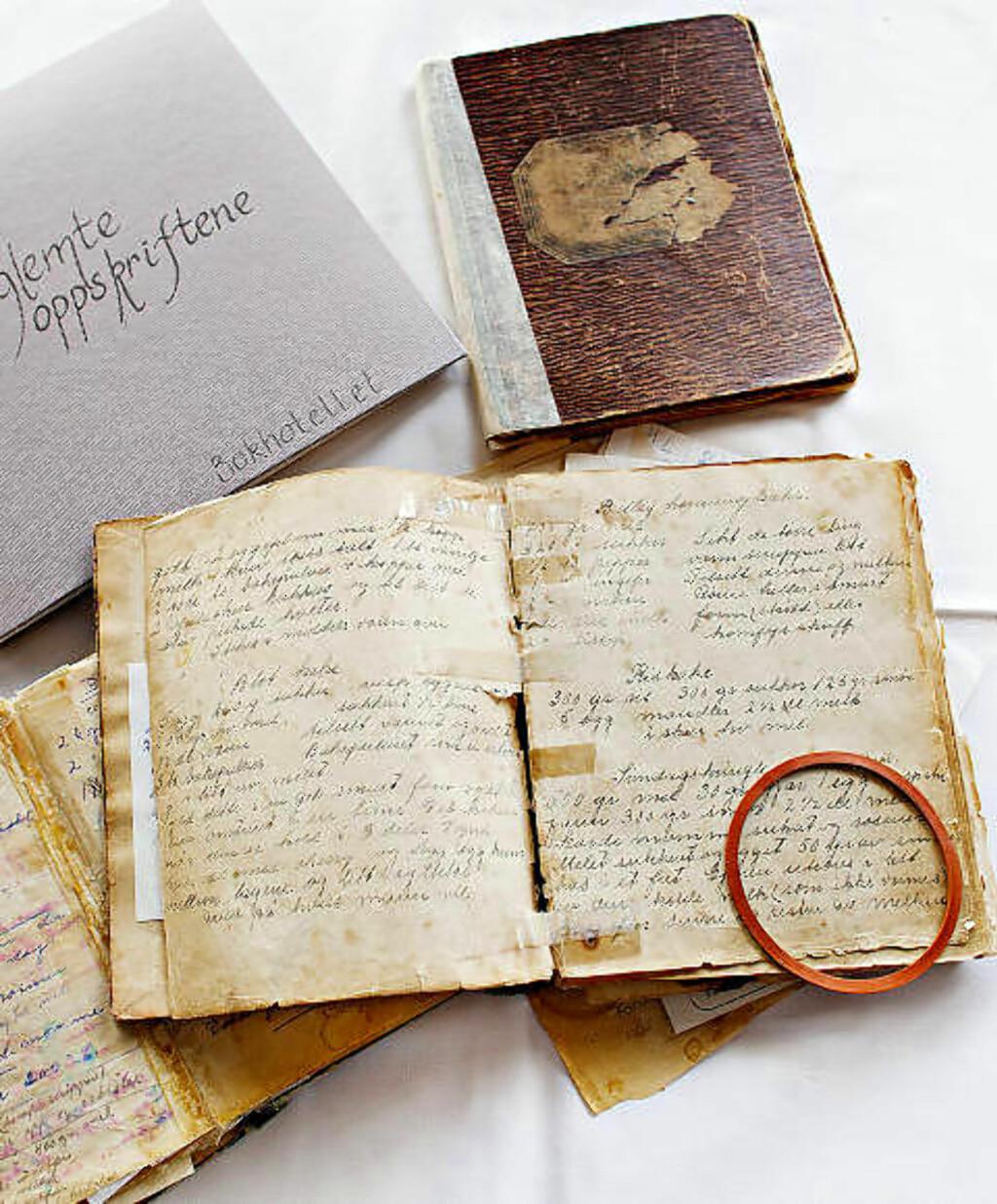 OPPSKRIFTER: Bestemødres sirlige håndskrift på gulnede sider får nytt liv i Skjærgårdssmaks regi.
