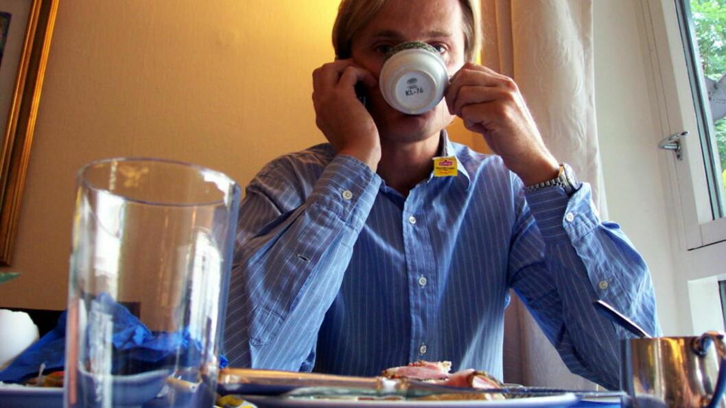 <strong>MOT STRØMMEN:</strong> Øystein Stray Spetalen stod imot børsnedturen og aksjene hans steg i verdi. Foto: MORTEN PEDERSEN