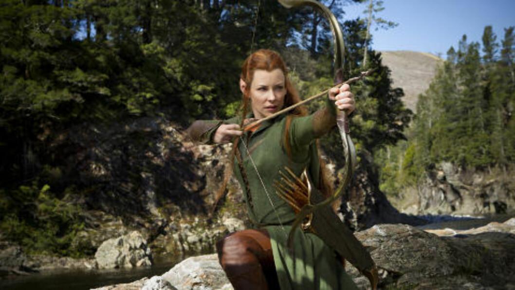 <strong>POPULÆR:</strong> Evangeline Lilly i den kommende filmen «Hobbiten: Smaugs ødemark». Foto: Filmweb.