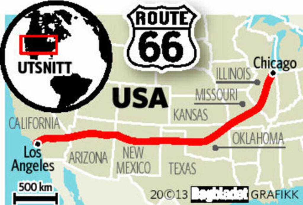image: Opplever USA gjennom 400 mil, 17 dager, og sju delstater