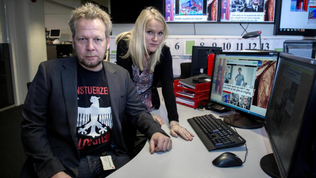 """TESTET DATASIKKERHET: Espen Sandli og Linn Kongsli Hillestad er journalistene bak Dagbladets serie """"Null CTRL"""". Tips journalistene på nullctrl@dagbladet.no Foto: Øistein Norum Monsen / Dagbladet"""