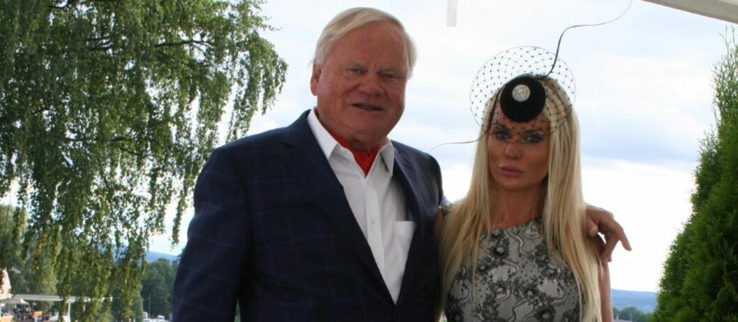 <strong>MOT STRØMMEN:</strong> John Fredriksen, sammen med datteren Kathrine Fredriksen, trosset fallet på Oslo Børs. Foto: Lars Halvor Magerøy / Dagbladet
