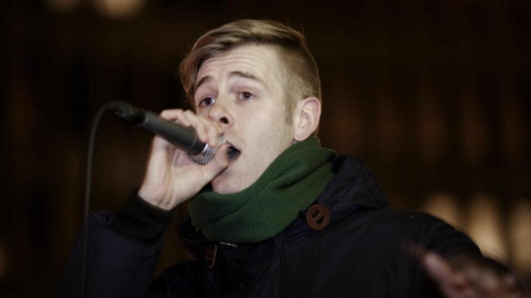 <strong>Overraskelsesrap:</strong> Lars Vaular er en av de uannonserte artistene som spiller en akustisk, nedtonet konsert på Hovefestivalen. Foto: Sveinung U. Ystad / Dagbladet