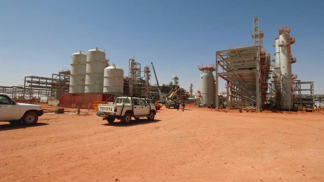 <strong>MOT NORMALT :</strong> In Amenas anlegget i Algerie har startet produksjonen igjen etter terroren i januar. Her arkivfoto fra 2005. REUTERS/Kjetil Alsvik/Statoil via Scanpix