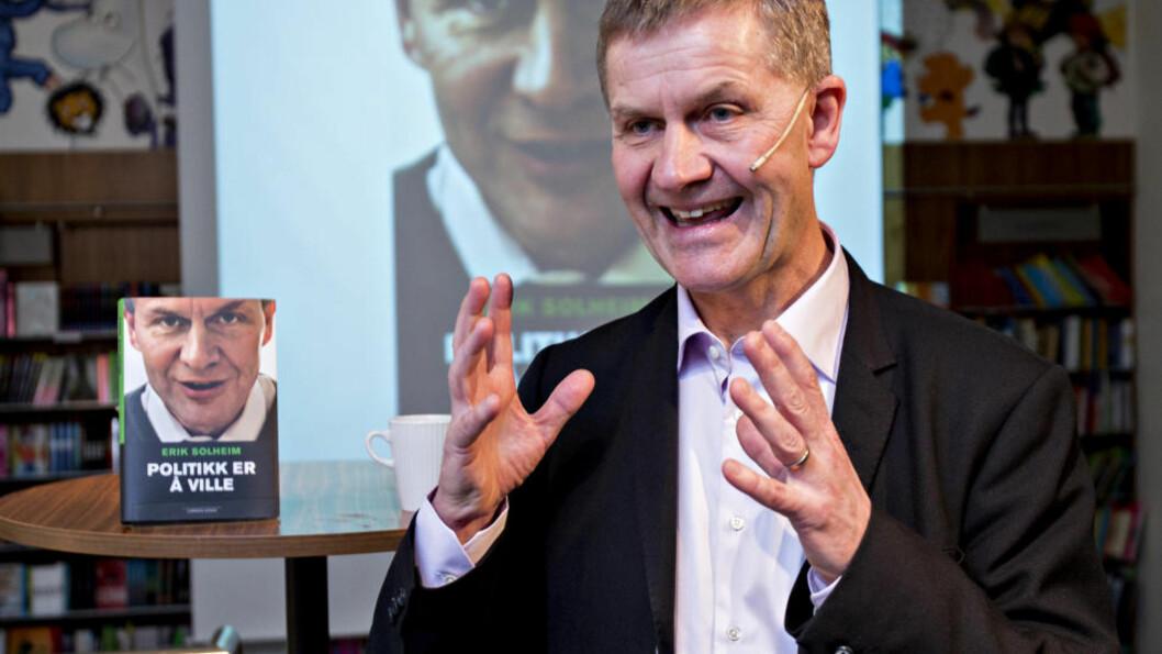 """<strong>NY BOK:</strong>  Erik Solheim lanserer boka """"Politikk er å ville"""". Foto: Torbjørn Berg / Dagbladet"""