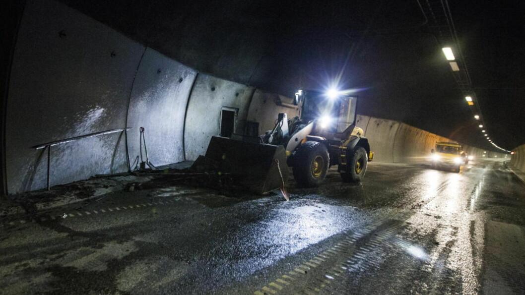 Uvisst når tunnel i Drammen åpnes etter bobilbrann