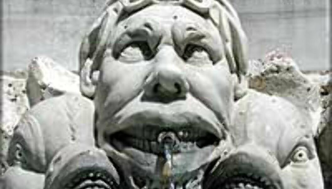 Detalj fra fontenen på Piazza della Rotonda. Velkommen til Roma!
