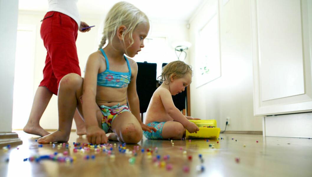 <strong>IKKE «LEVERING»:</strong> «Som en bruker på Twitter uttrykker det: En god barnehage er en barnehage som barna «følges» til, og ikke «blir levert» til», skriver kronikkforfatterne. Illustrasjonsfoto: Sara Johannessen / NTB Scanpix