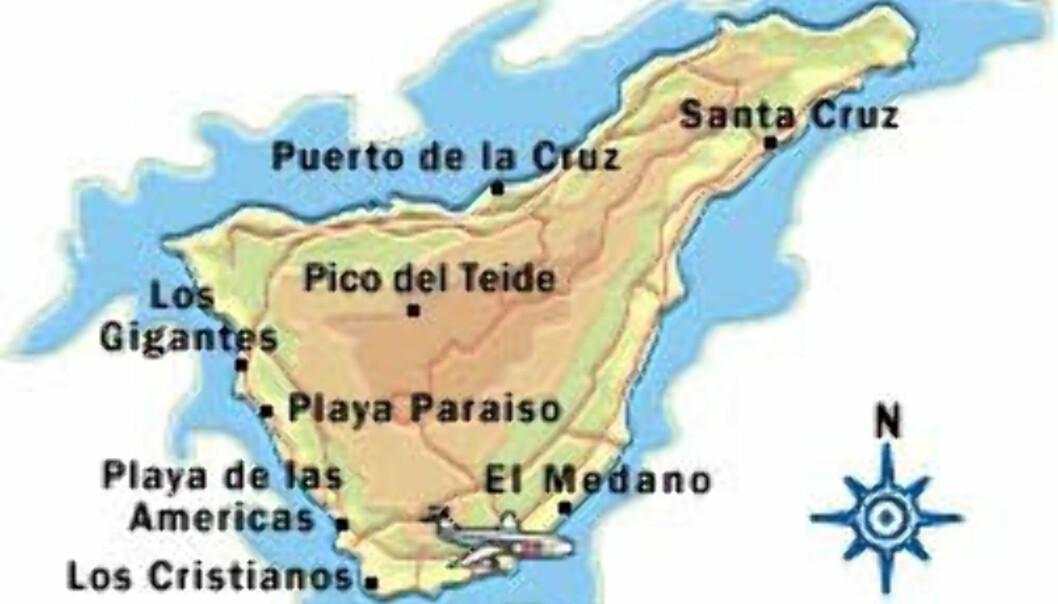 Kart: Tenerife (fra Apollo)