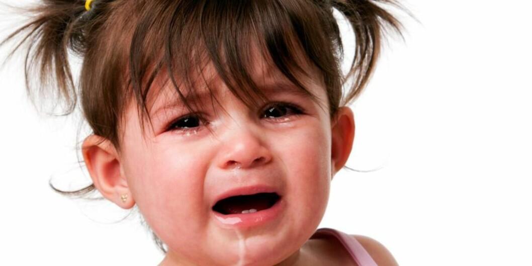 <strong>TÅREVÅT:</strong> Barnegråt har alltid en viktig funksjon for barnet og skal alltid tas alvorlig av foreldrene.  Foto: Thinkstock