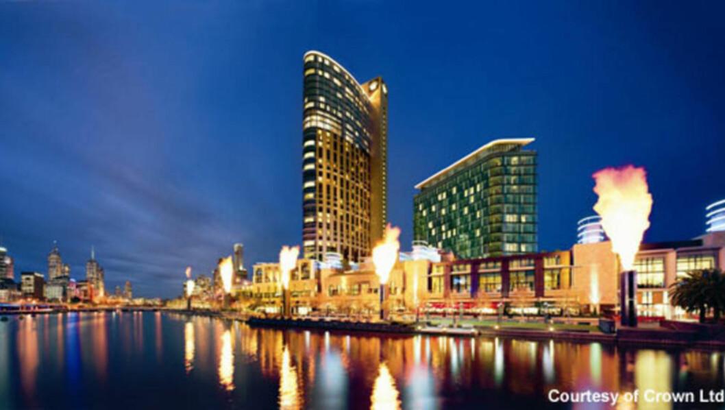 STORKASINO: Crown Casino i Melbourne skal være Australias største, og har over 500 spillerbord.