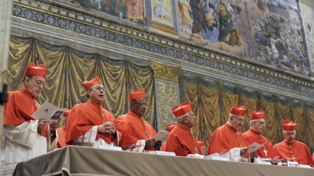 VALGTE PAVEN: Wilfrid Fox Napier er en av de 115 kardinalene i konklavet i Vatikanet som valgte Frans til pave tidligere denne uka. Footo: AP / L'Osservatore Romano / Scanpix