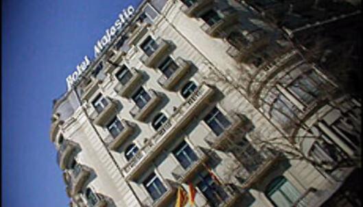 Hotel Majestic er Champion League-spillernes hotell.<br /> <I>Foto: Inga Ragnhild Holst</I> Foto: Inga Holst