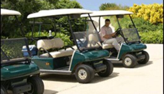 <center>Både golfcart og caddie er inkludert i prisen. (Foto: Dag Yngve Dahle)