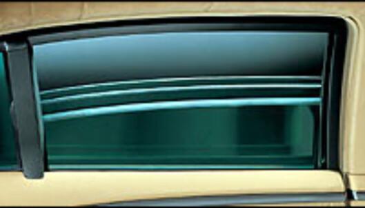 Ekstremt tykke vinduer er en av svært få synlige kjennetegn på en B7-bil.
