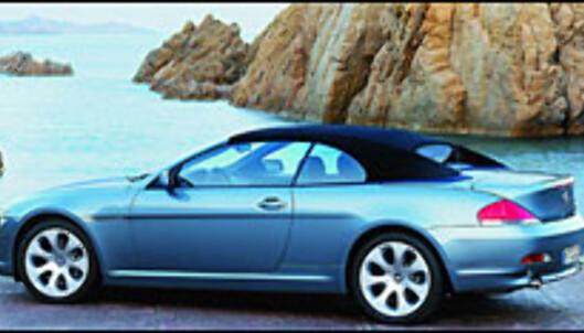 BMW 645Ci: Stoff-tak og muskler