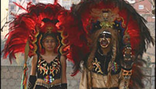 Qori Inkas - gullkongene - fra Bolivia i karnevalskostymer.<br /> <br /> <I>Foto: Miguel Alonso Cortiñas/ Penn med pepper</I> Foto: Miguel Alonso Cortiñas/ Penn med pepper - kan ikke brukes