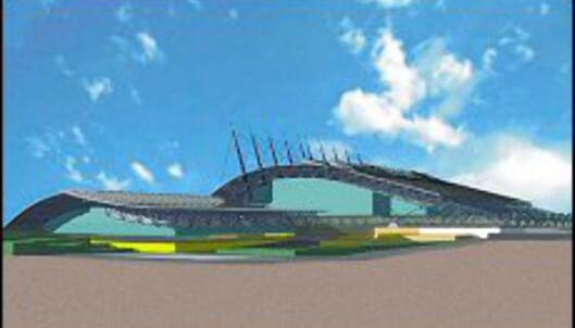 Hamar fikk sitt vikingskip, nå får Aten Galatsi Olympic Hall. Her er en 3D framstilling av hvordan det vil se ut når det er ferdig.