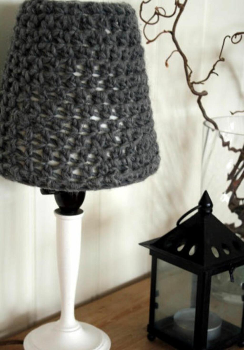 LAMPETREKK: Trekket kan enkelt tilpasses din lampeskjerm. FOTO: Janne Merete Frydenlund