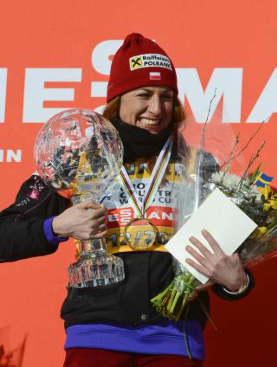 <strong>TJENTE MEST:</strong> Justyna Kowalczyk er den langrennsløperen som innkassert mest i pengepremier denne sesongen. Foto: NTB Scanpix
