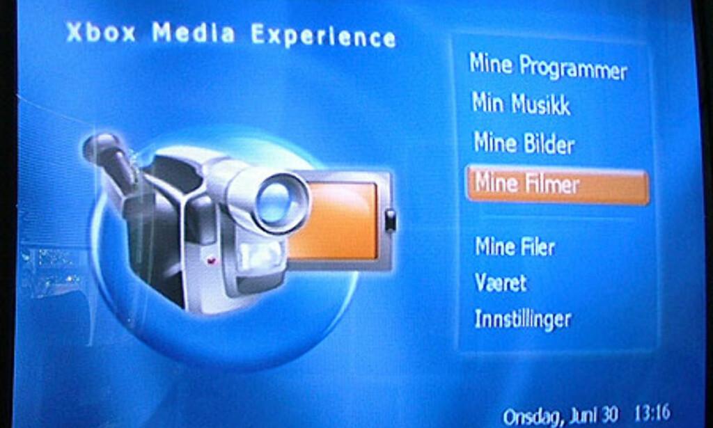Klikk på bildet for å se flere skjermbilder fra XBox MediaCenter