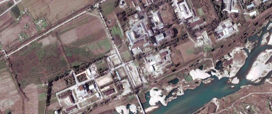 <strong>ATOMANLEGG:</strong> Bildet viser Yongbyon-anlegget, vel hundre kilometer nord for hovedstaden Pyongyang. Foto: EPA/DIGITAL GLOBE