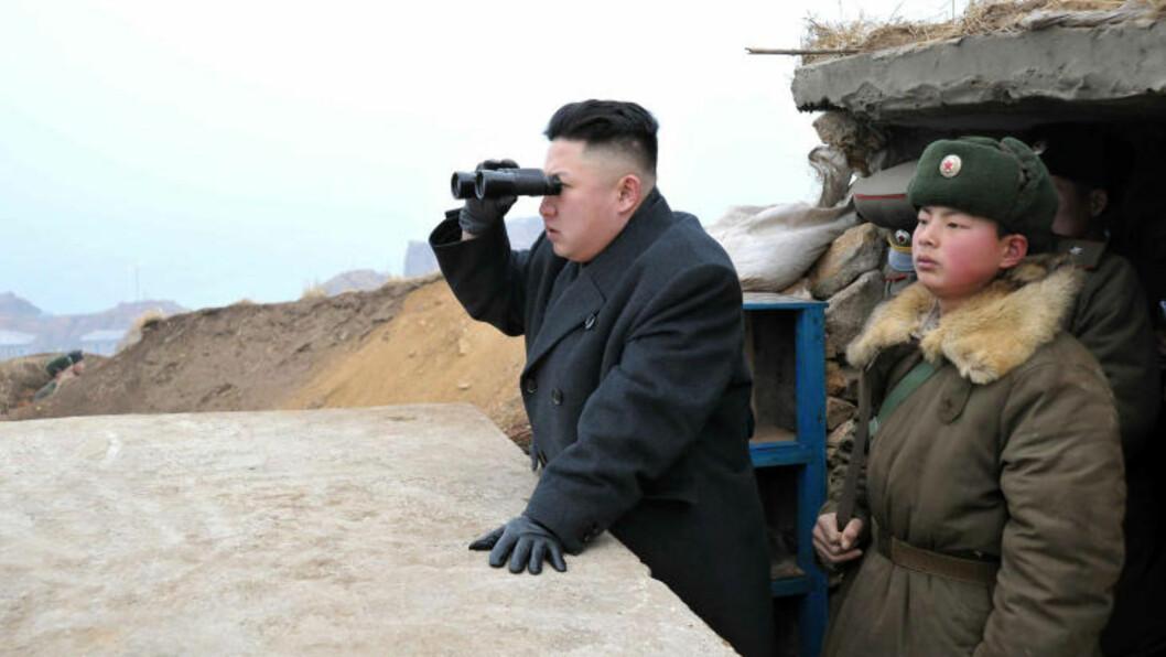 NORD-KOREA: Mange frykter at Nord-Koreas leder Kim Jong-un vil gjennomføre flere atomtester, eller gå til krig. Foto: Scanpix