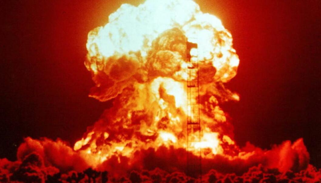 NEVADA: USA er det landet som har gjennomført flest atomprøvesprengninger på verdensbasis. Bildet er fra en atomsprenging i Nevada i USA i 1953.  Foto: National Nuclear Security Administration / Nevada Site Office / Scanpix
