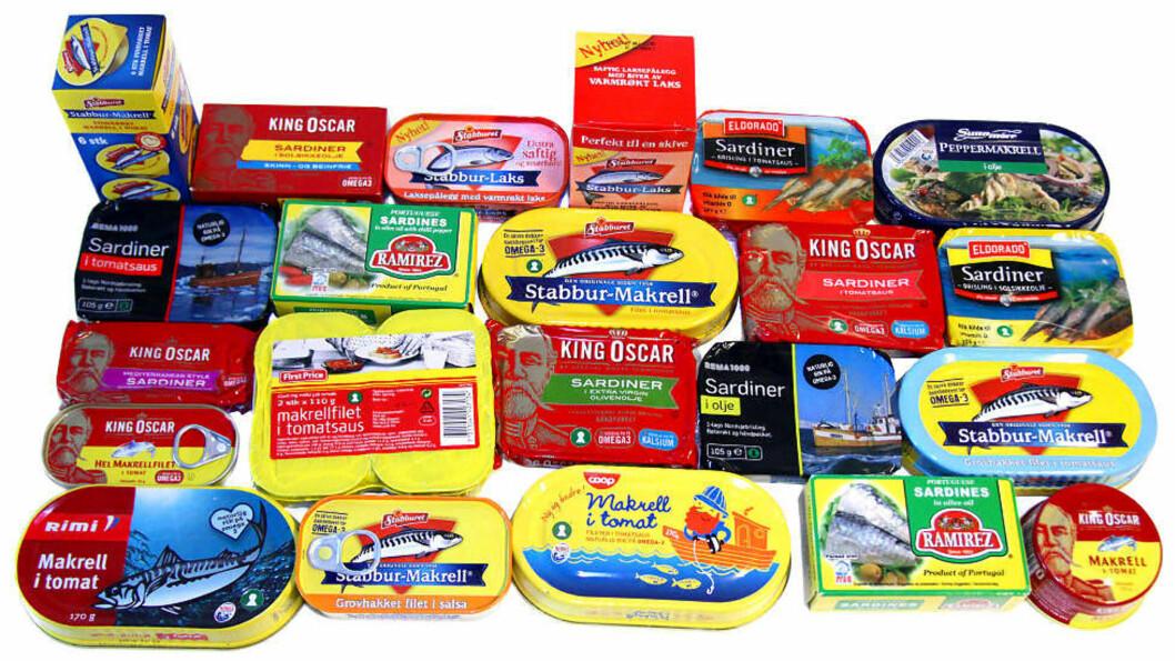 <strong>ELLEVE AV DISSE FÅR SEKS:</strong> Fiskepålegg er kanskje det sunneste du kan velge å ha på skiva. Bare halvparten av oss spiser nok fisk, og dette er en fin måte å øke inntaket på. Foto: ERIK HELGENESET