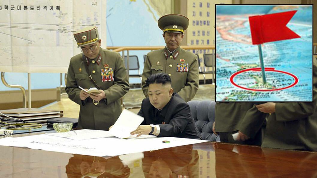 <strong>ADVARER:</strong>  I en kommentar fra den koreanske avisen Central News Agency (KCNA) bygger det hele på at at Tokyo har en stående ordre om å ødelegge enhver rakett på vei mot Japan, slike handlinger kan føre til et kjernefysisk angrep fra Nord-korea mot øynasjonen. Foto: AP Photo/Shuji Kajiyama