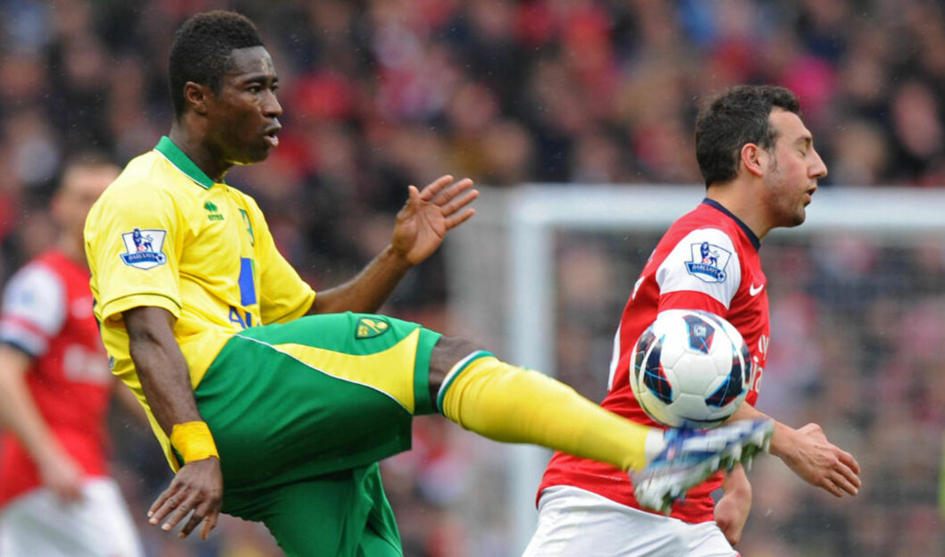 <strong>BITTERT TAP:</strong> Alexander Tettey og Norwich fikk det tøft mot Arsenal i dagens kamp på The Emirates.Foto: AFP PHOTO/OLLY GREENWOOD