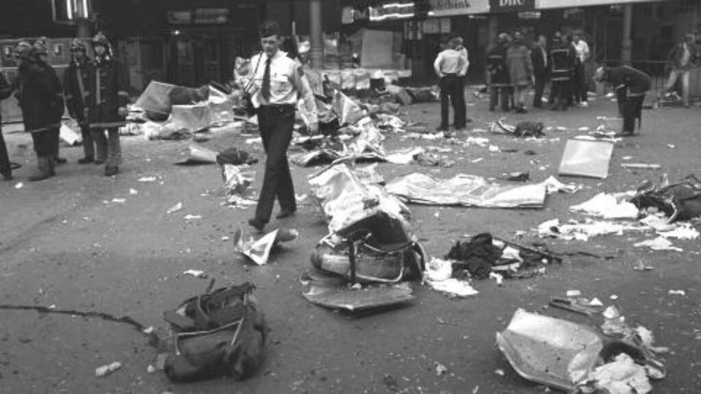 STORE SKADER: En 18 år gammel gutt, som var en god venn av Geir Lippestad, innrømmet at han sto bak bombeattentatet. Foto: NTB / Scanpix