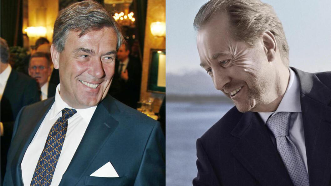 <strong>SKUFFER INN:</strong> Hagen (t.v.) og Røkke har lønnsomme aksjer, og de kan smile godt. Foto: Jacques Hvistendahl(Stein Erik Hagen)/ Erik Hattrem(Kjell Inge Røkke)