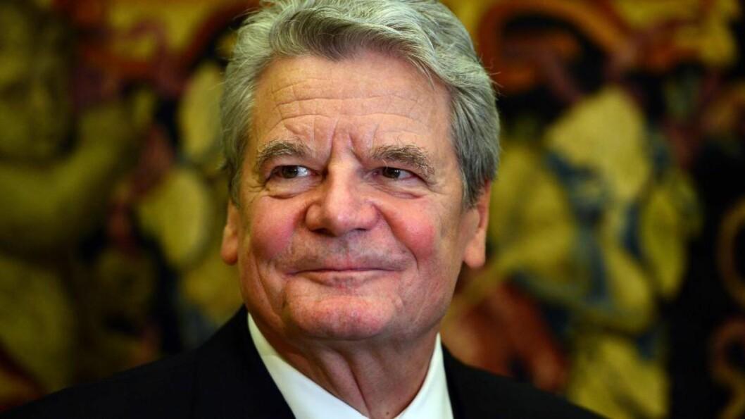 <strong>TERRORMÅL?:</strong> Tysklands forbundspresident Joachim Gauck (73) var mottaker av det mistenkelige brevet - men er for tida ikke hjemme. GABRIEL BOUYS / AFP / NTB SCANPIX