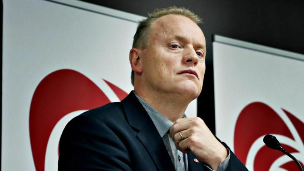 <strong>VALGKAMPSTRATEG:</strong> Arbeiderpartiets partisekretær Raymond Johansen talte til landsmøtet i dag. Foto: Jacques Hvistendahl / Dagbladet.