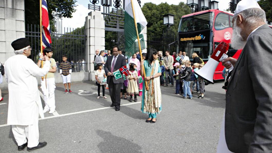 <strong>NASJONALFEIRING:</strong> Folk fra det norskpakistanske miljøet i Oslo feirer Pakistans nasjonaldag 14. august. Foto: ANETTE KARLSEN / NTB SCANPIX