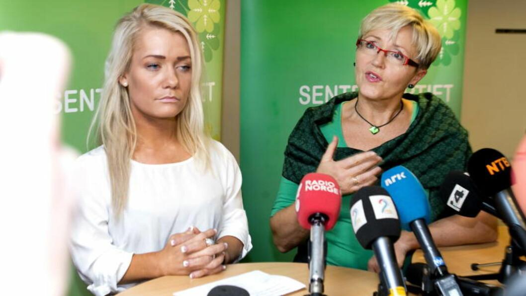 <strong>- SKYTER FRA HOFTA:</strong> Sandra Borch må forklare seg overfor Jenny Klinge etter utspillet i går. Foto: Gorm Kallestad / NTB Scanpix