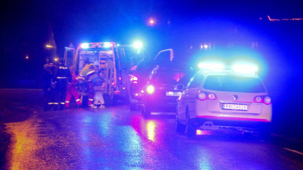 BILDRAP: Tolv år gamle Olav Hovda ble kjørt ned bakfra da han var ute og kjørte rulleski med sin far fredag kveld. Bilføreren stakk av. I går pågrep politiet en mann og en kvinne i saken. De er begge siktet for bildrap. Mannen er tidligere blant annet dømt for fyllekjøring og uaktsom kjøring. Foto: Magnar Larsen / NTB scanpix