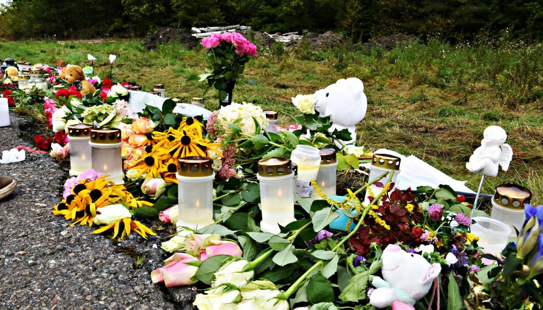 <strong>TRAGEDIE:</strong> 11-åringen som ble påkjørt og drept torsdag har fått mange hilsener fra lokalsamfunnet. Foto: Arne V. Hoem / Dagbladet