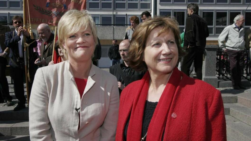 <strong>RASERI:</strong> Tidligere finansminister og SV-leder Kristin Halvorsen fikk smake tidligere LO-leder Gerd-Liv Vallas raseri i 2005, for et skatteforlik SV hadde stemt imot. Foto: Jarl Fr. Erichsen / SCANPIX .