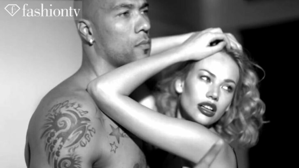 GOD KJEMI: John Carew og Tatiana Shamratava har god kjemi foran kamera. Foto: Fashion TV.