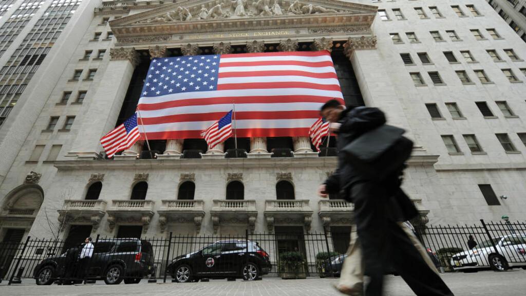TUNGE TIDER: Børsen i New York fotografert midt under finanskrisen, i 2009. Foto: STAN HONDA / AFP / NTB SCANPIX