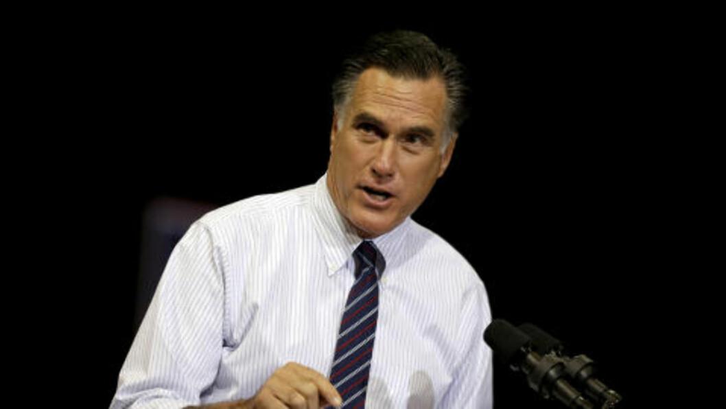 <strong>SLÅTT AV OBAMA:</strong> Mitt Romney. Foto: AP Photo / David Goldman