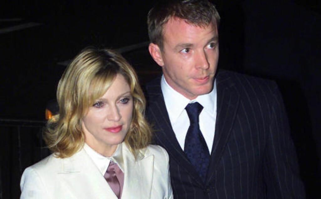 STARSTRUCK: Iversen forteller at han ble starstruck da han havnet på bord med Madonna og den daværende ektemannen Guy Ritchie.Foto: KIERAN DOHERTY / REUTERS / NTB SCANPIX