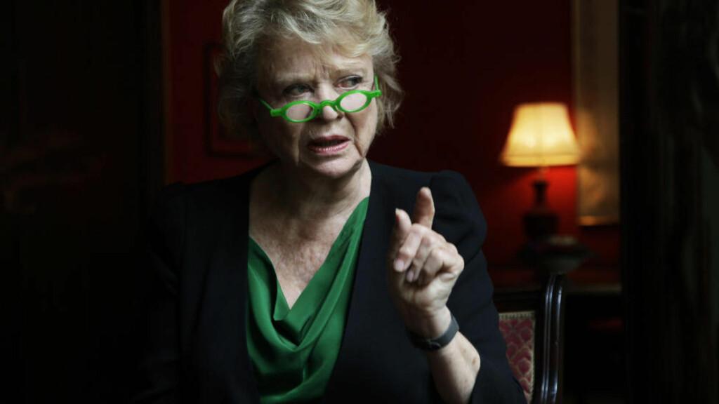 RØD-GRØNN: Korrupsjonsjegeren Eva Joly tror ikke du kan bekjempe miljøkriminalitet uten «good governance». Foto: Steinar Buholm / Dagbladet