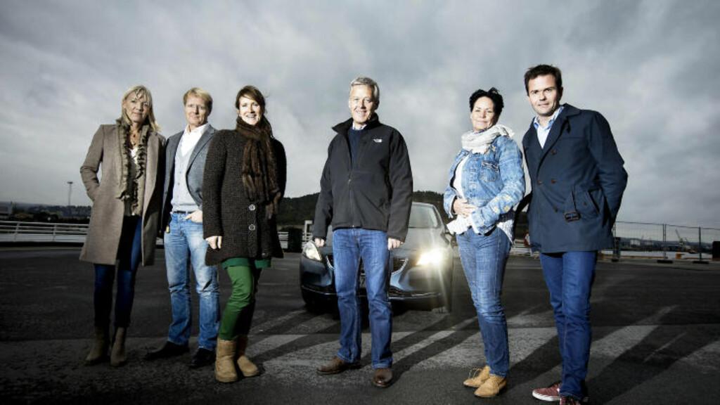 ÅRETS BIL-JURYEN 2013: Ulrica Risberg, Anders G. Hovde,  Kari Sandberg, Terje Bjørnsen, Turid Næss og Marius Holm. Foto: BJØRN LANGSEM